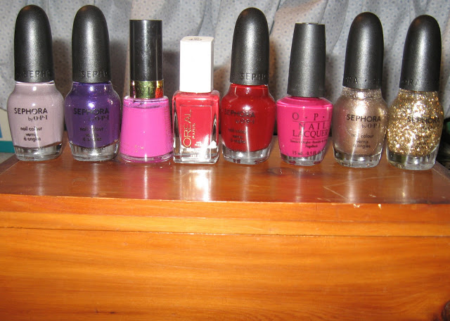 A selection of my favorite nail colors