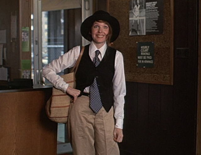 This is the famous Annie Hall look that is most often shown